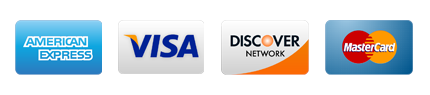 We take VISA, MasterCard, Discover and AMEX